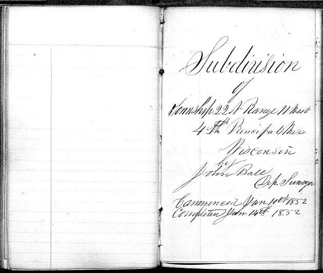 Title Page 1852 Survey