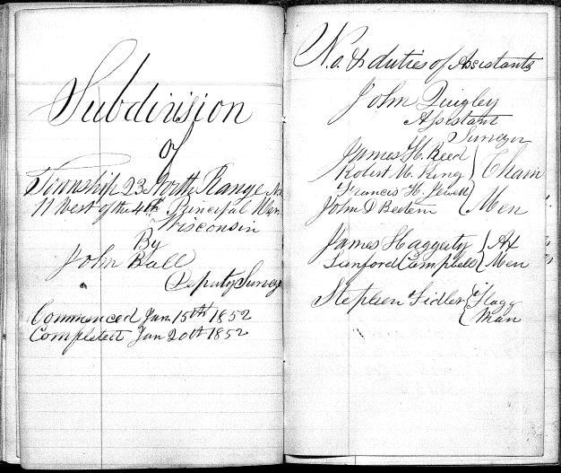 T23N R11W title page 1852