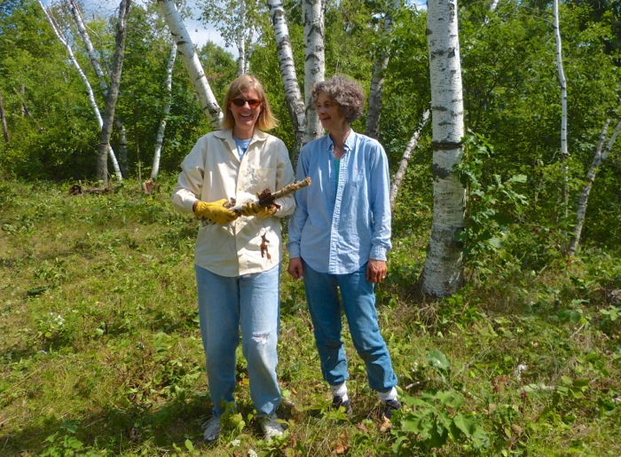 8-13-12 Marcie and Joan after cutting